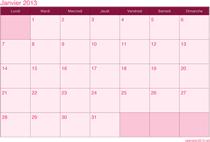 Calendrier 2013 mensuel thème Lady